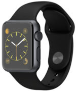 Apple Watch Sport 38mm Space Gray with Black Sport Band (MJ2X2)