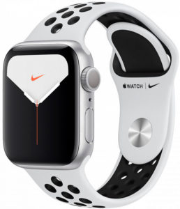 Apple Watch Nike Series 5 44 mm Aluminum Silver (MX3V2)