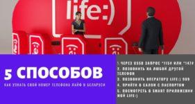 как узнать свой номер life беларуси