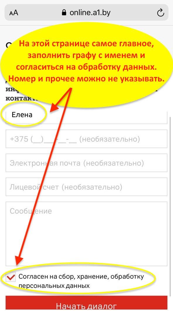 online помощник а1